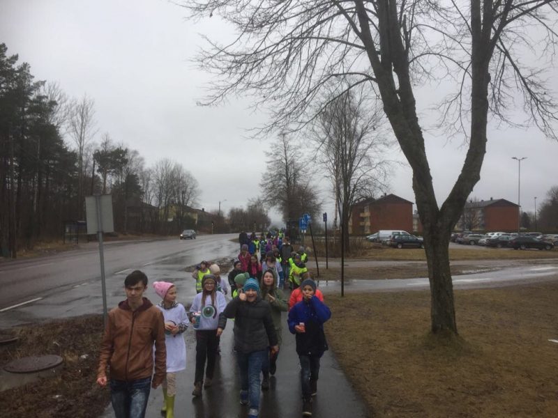 Sponsored walk by Victor's Class in Norway
